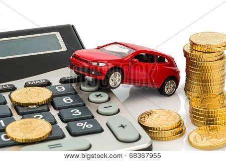 Car Calculator Rising Image Photo Free Trial Bigstock