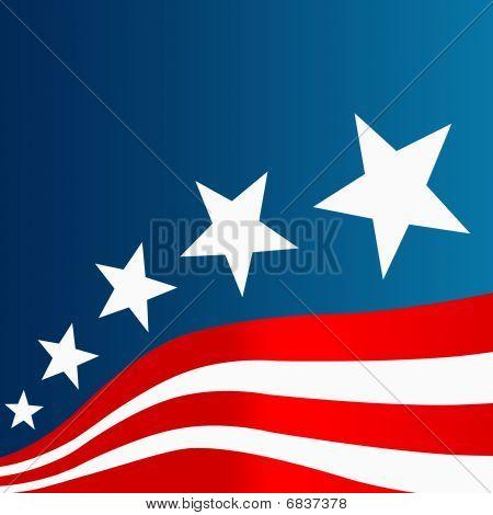 Blue Red White Flag