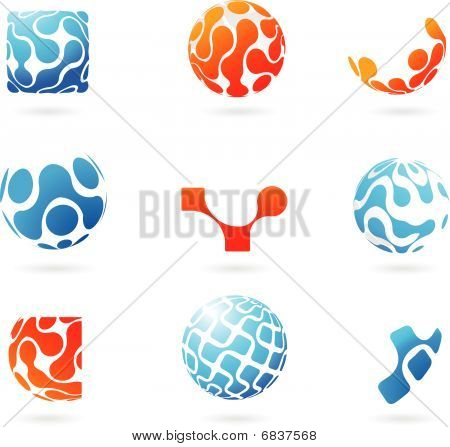 Set Of Vector Modern Abstract Design Elements