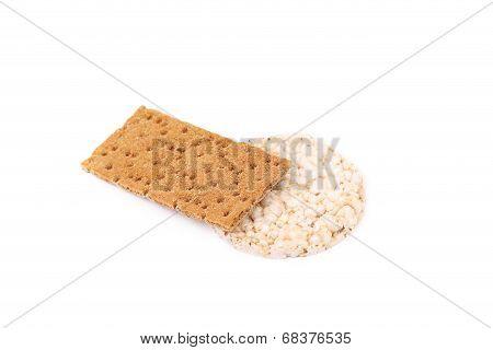 Crispbread and corn cracker.