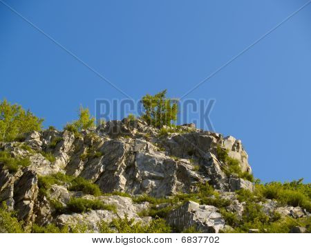 Stone Declivity Of Mountain