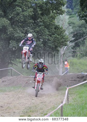 Motocross In El Berron, Asturias, Spain..