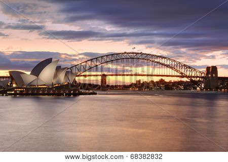 Sydney Australia At Sunset