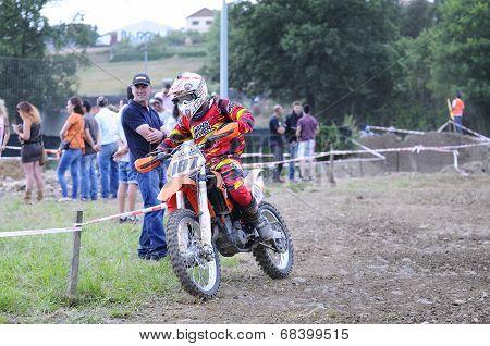 Motocross In El Berron, Asturias, Spain..