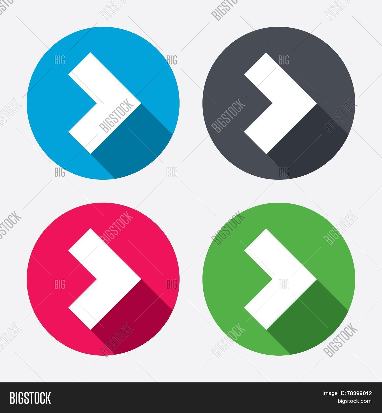 Arrow Sign Icon Next Vector Photo Free Trial Bigstock