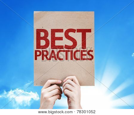 Best Practices card with beautiful day