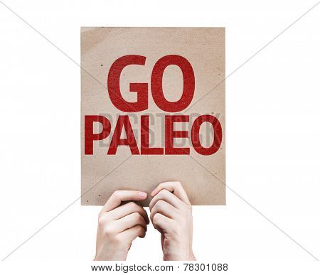 Go Paleo card isolated on white background