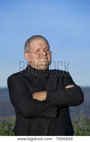 Buissness Man With Folded Arms