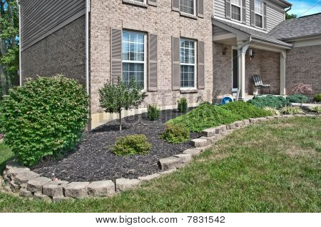 Brick Home Landscaping Beds