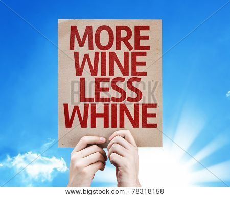 More Wine Less Whine card with beautiful day