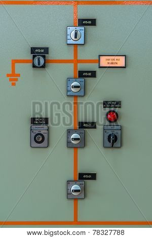switch control at the electric power station poster