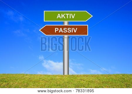 Signs Active or passive