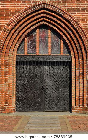 Koenigsberg Cathedral main entrance. Kaliningrad (formerly Koenigsberg) Russia poster