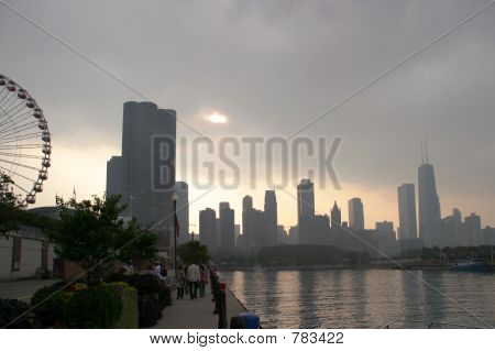Chicago - Cloudy Sunset