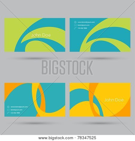 Set business card template