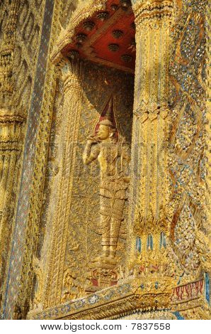 Thailand Angle Graven Wood Window