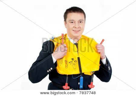Steward With Life Jacket