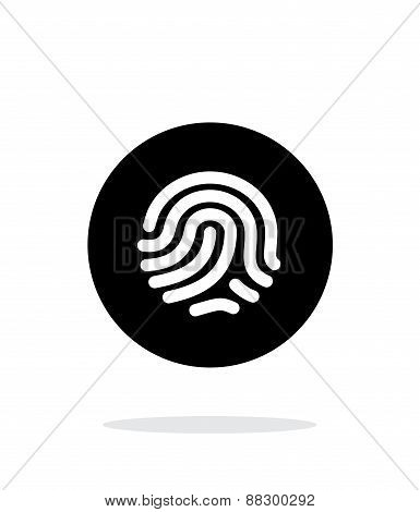 Thumbprint scanner icon on white background.