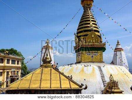Swayambhunath stupa in Kathmandu, Nepal