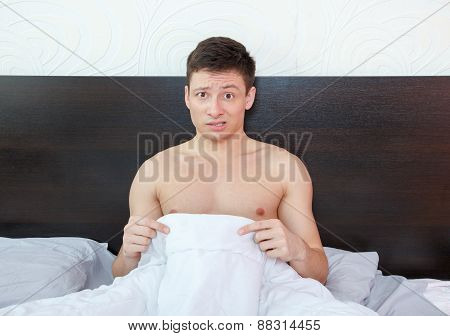 Impotent Man Worrying About His Penis And Erection Failure