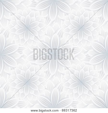 Light Seamless Pattern With Flower Chrysanthemum