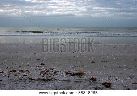 A Beautiful Ocean Sunrise on Sanibel Florida Beach