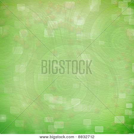 Green Backdrop For Greetings Or Invitations With Stars