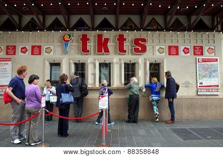 Queue for Theater Tickets