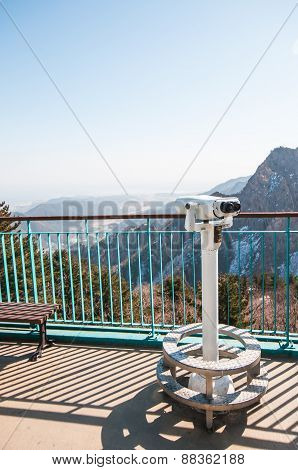 Observation Point With Telescope
