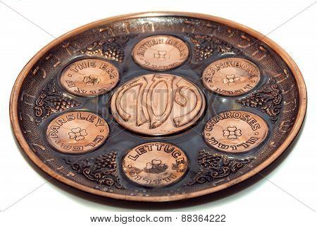 Seder Plate Vor Passover Holiday