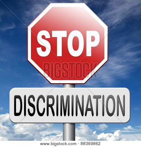 Stop Discrimination No Racism