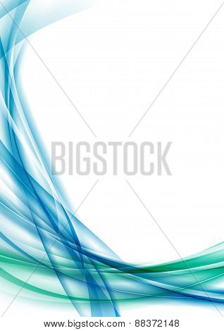 Blue Swoosh Line Certificate Abstract Background
