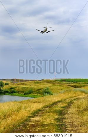 Plane Over The River