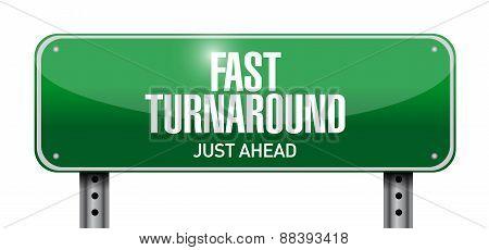 Fast Turnaround Street Sign Illustration