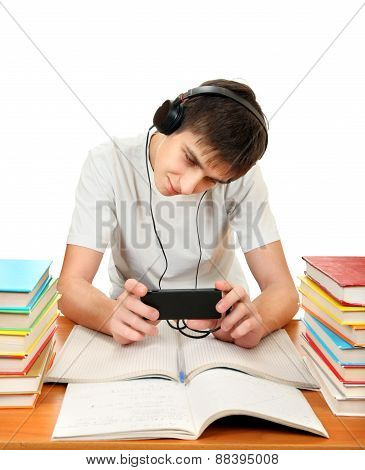 Student In Headphones