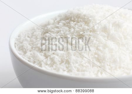 Flaked or shredded coconut.