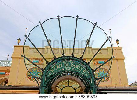 Entrance To Cafe De Paris, Monaco