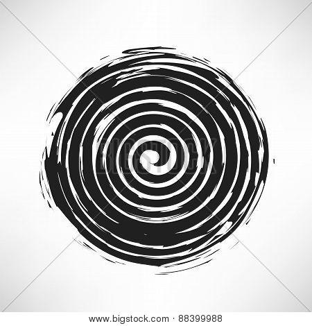 Spiral Grunge Pattern