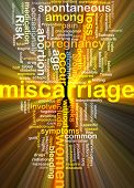 Background text pattern concept wordcloud illustration of pregnancy miscarriage glowing light poster