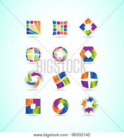 Logo Elements Icon Set Design