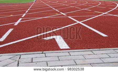 Rubber Racecourse At The Athlete Sports Stadium