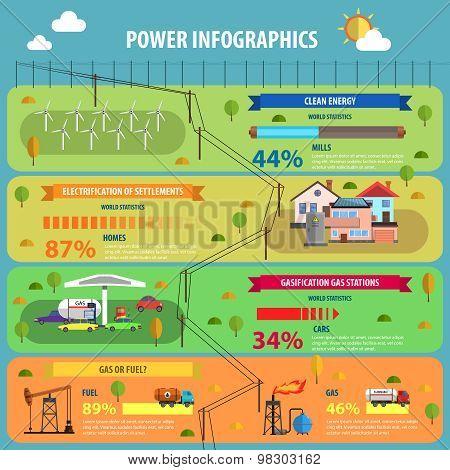 Power Infographic Set