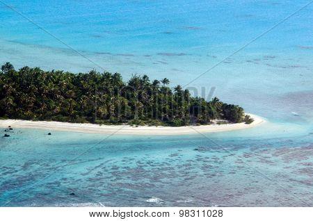 Aerial View Of Aitutaki Lagoon Cook Islands