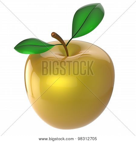Apple yellow golden nutrition fruit antioxidant fresh ripe exotic food agriculture organic healthy poster