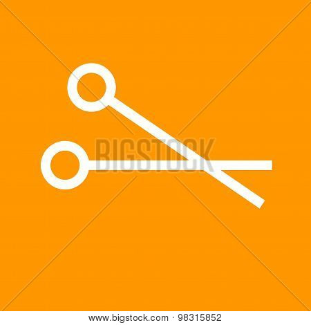 Scissors, cut, scissor, surgical icon vector image. Can also be used for healthcare and medical. Suitable for web apps, mobile apps and print media. poster