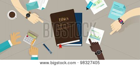business ethic ethical company corporate concept