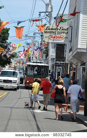 Commercial Street in Provincetown, Cape Cod in Massachusetts