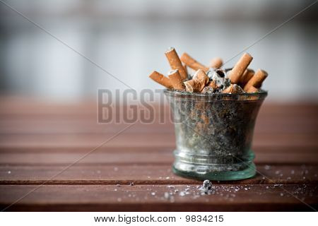 Ashtray Full With Butts