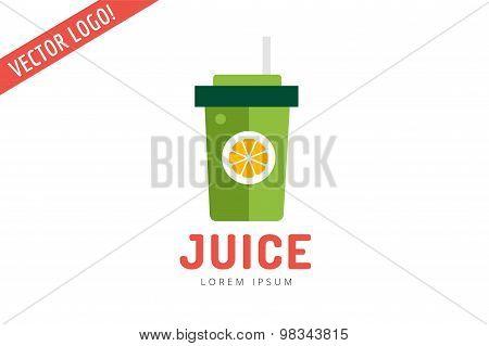 Lime or lemon fruit drink logo icon template design. Fresh, juice, drink, yellow, splash, vegetarian