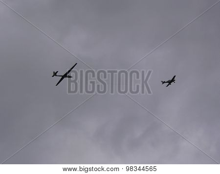 Towing a glider